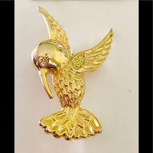 Vintage Hummingbird Brooch Pin